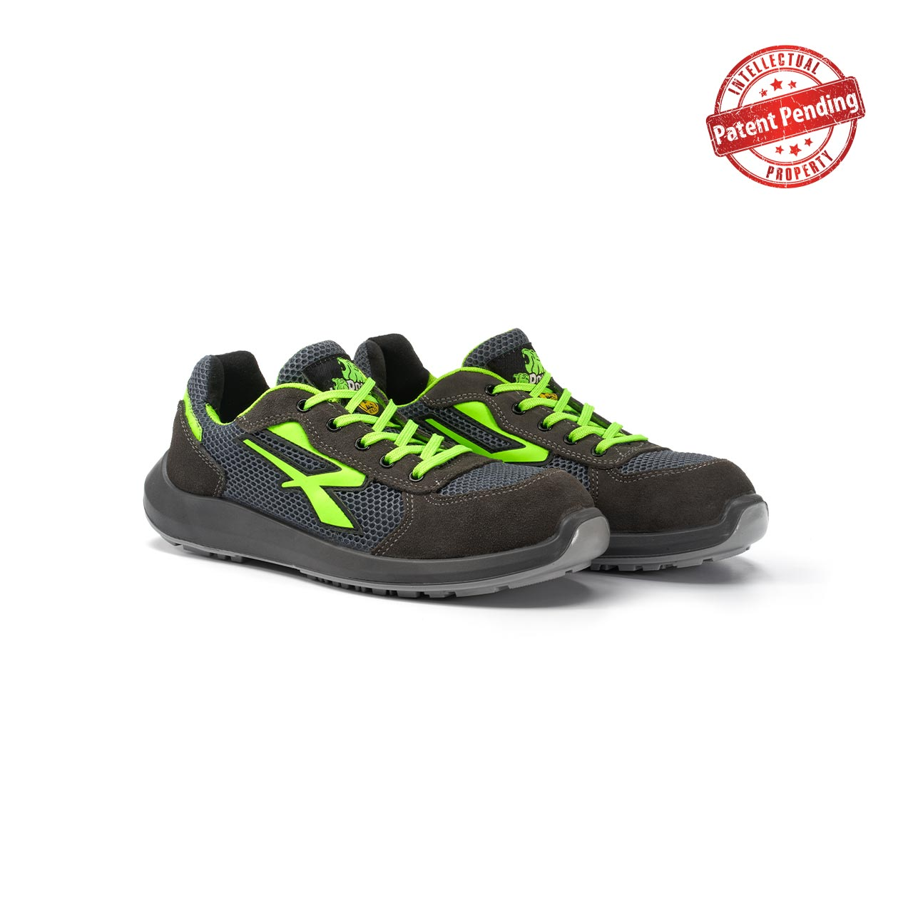 paio di scarpe antinfortunistiche upower modello gemini linea redup vista prospettica