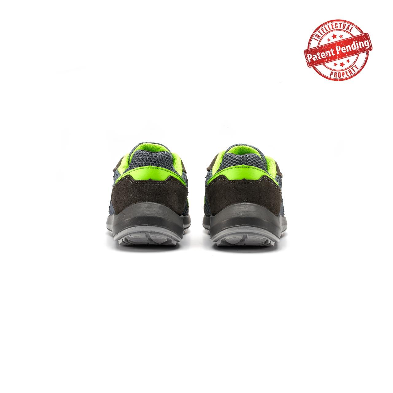 paio di scarpe antinfortunistiche upower modello gemini linea redup vista retro