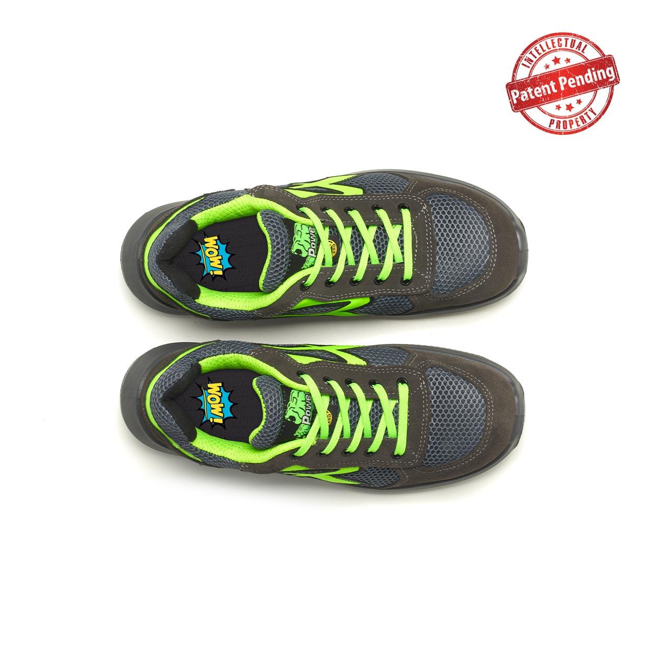 paio di scarpe antinfortunistiche upower modello gemini linea redup vista top