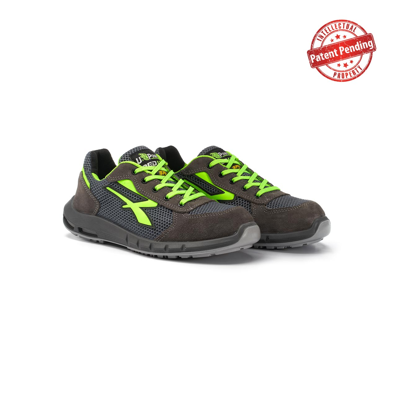 paio di scarpe antinfortunistiche upower modello gemini plus linea redup plus vista prospettica