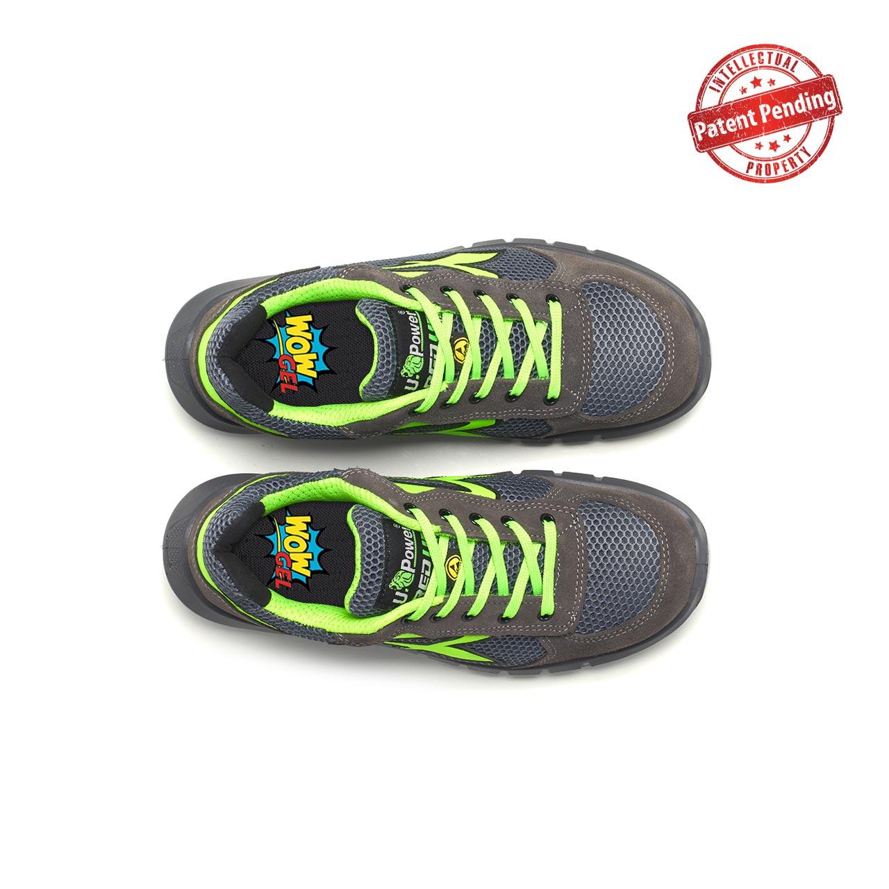 paio di scarpe antinfortunistiche upower modello gemini plus linea redup plus vista top