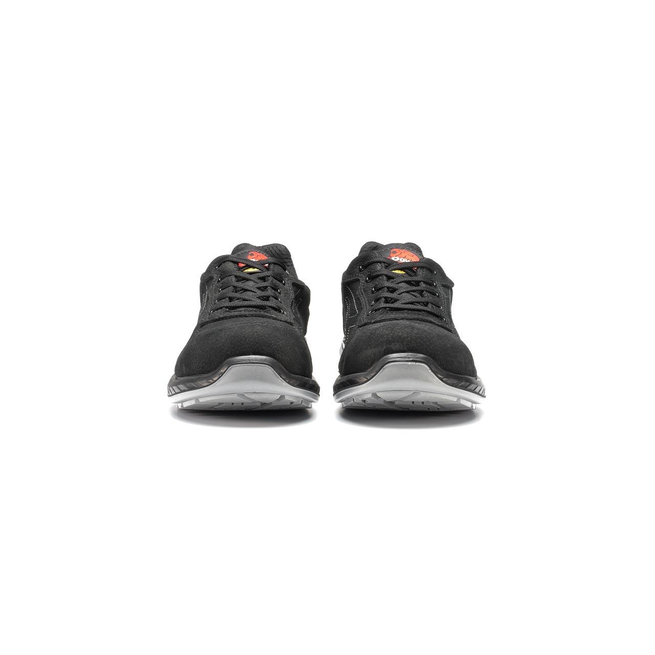 paio di scarpe antinfortunistiche upower modello gessato linea redindustry vista frontale