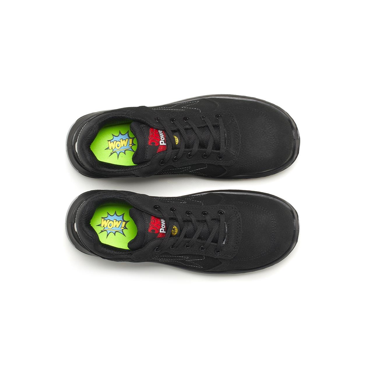 paio di scarpe antinfortunistiche upower modello gessato linea redindustry vista top