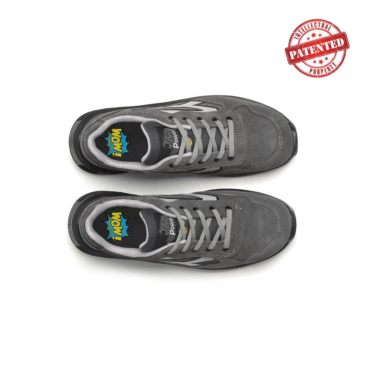 paio di scarpe antinfortunistiche upower modello going linea redlion vista top