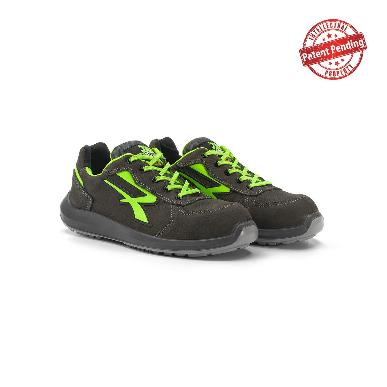paio di scarpe antinfortunistiche upower modello hydra linea redup vista prospettica