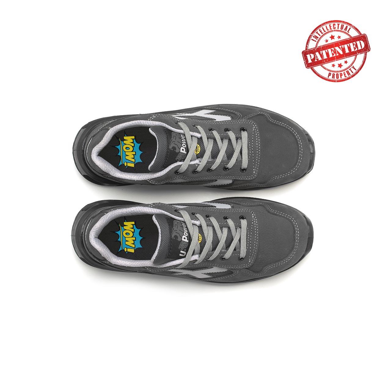paio di scarpe antinfortunistiche upower modello kick linea redlion vista top