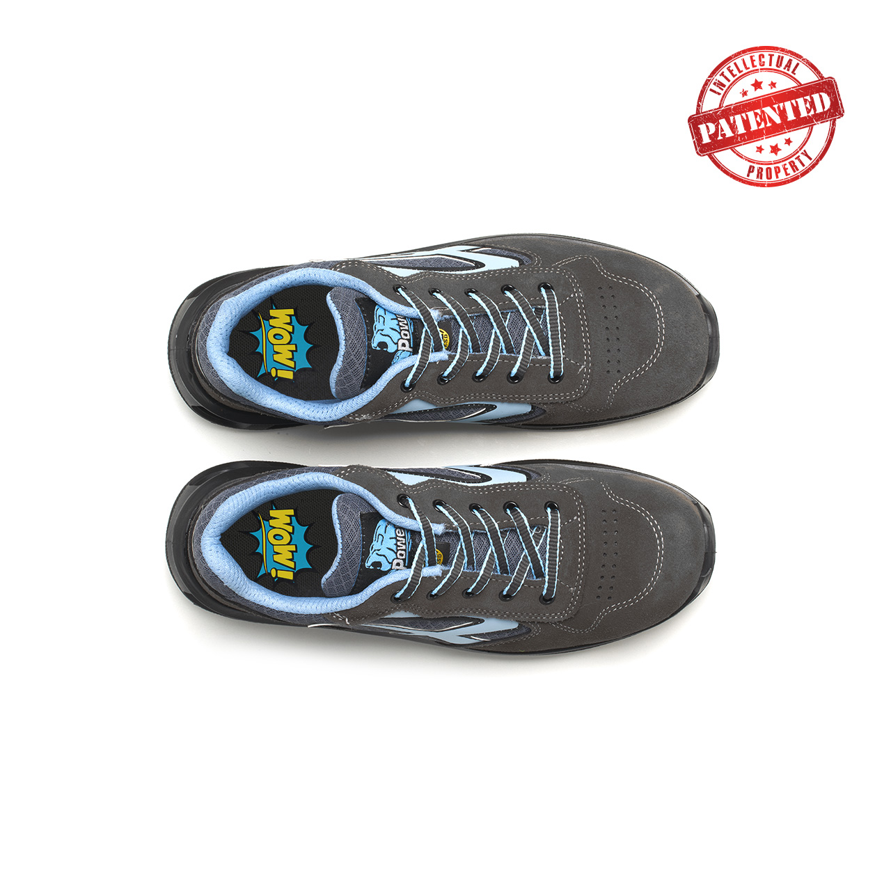 paio di scarpe antinfortunistiche upower modello lolly linea redlion vista top