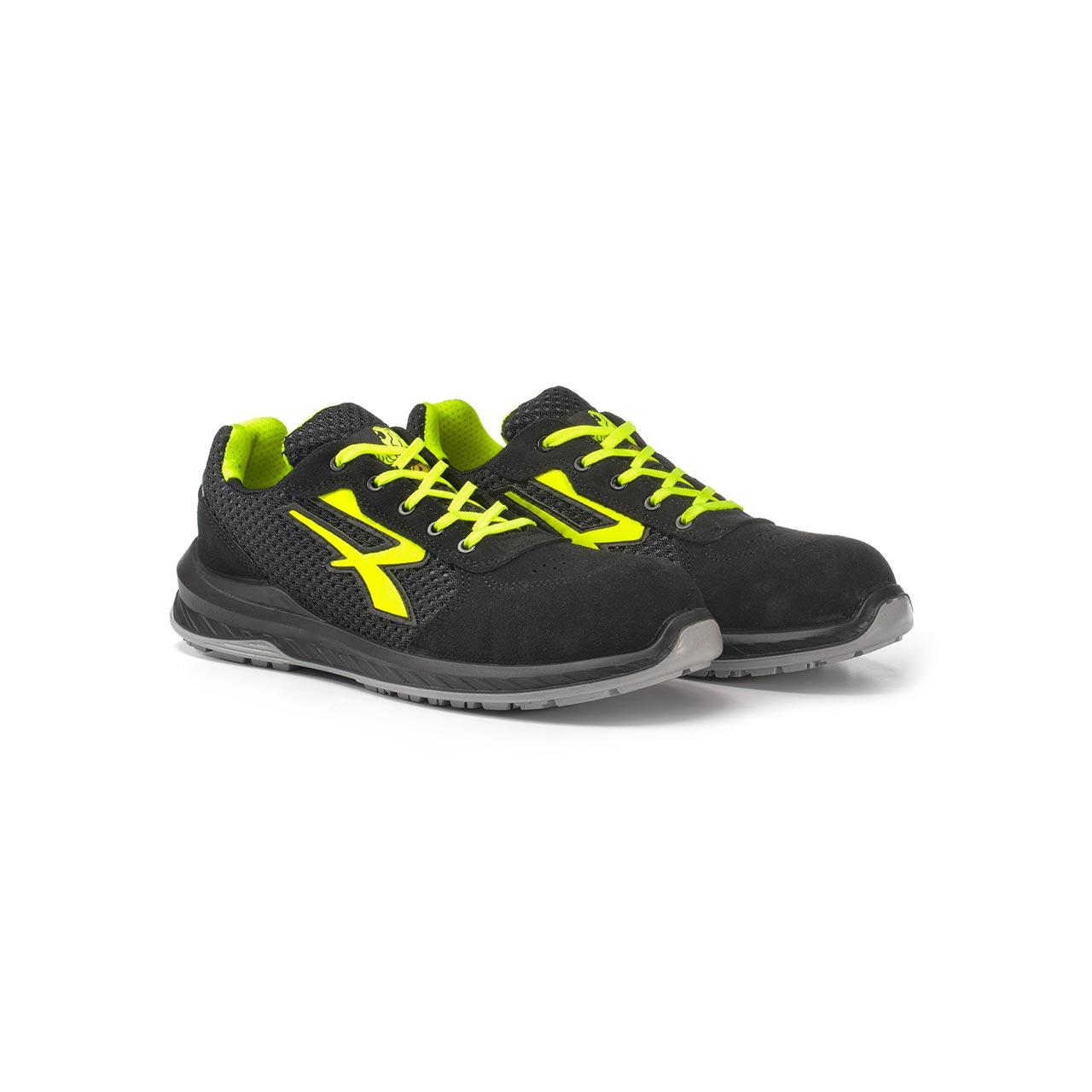 paio di scarpe antinfortunistiche upower modello marsiglia linea redindustry vista prospettica
