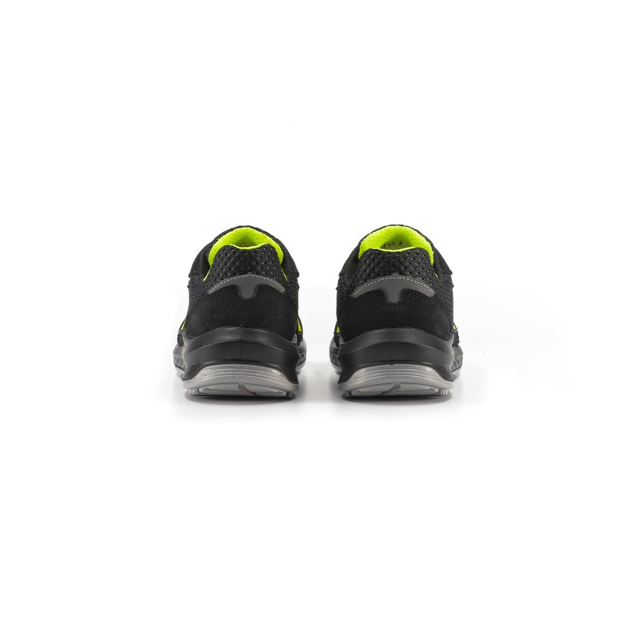 paio di scarpe antinfortunistiche upower modello marsiglia linea redindustry vista retro