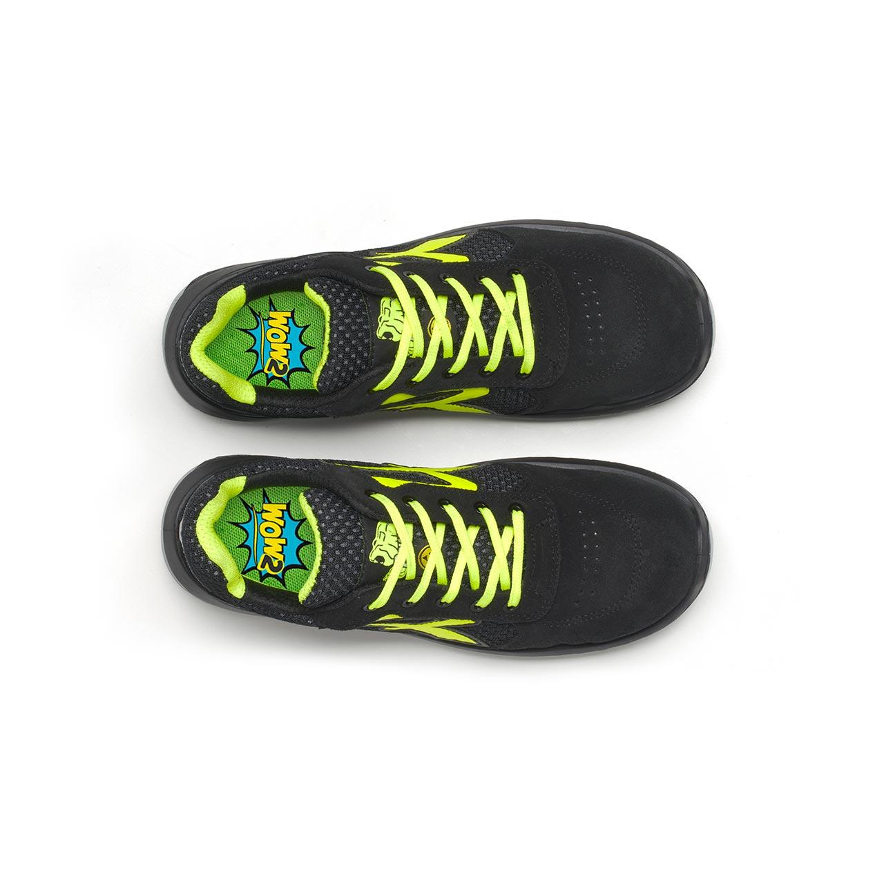 paio di scarpe antinfortunistiche upower modello marsiglia linea redindustry vista top