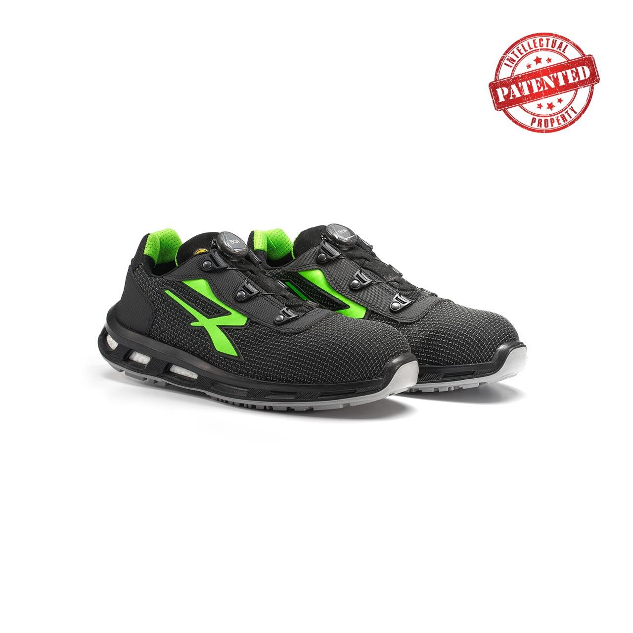 paio di scarpe antinfortunistiche upower modello monster linea redlion vista prospettica