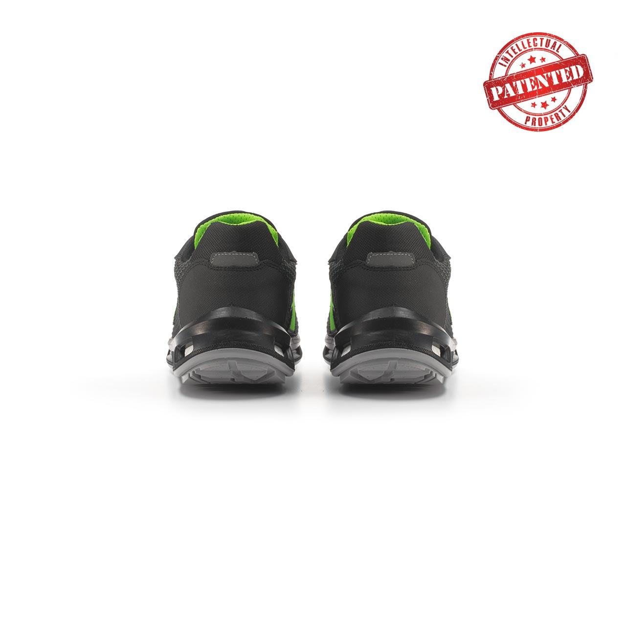 paio di scarpe antinfortunistiche upower modello monster linea redlion vista retro