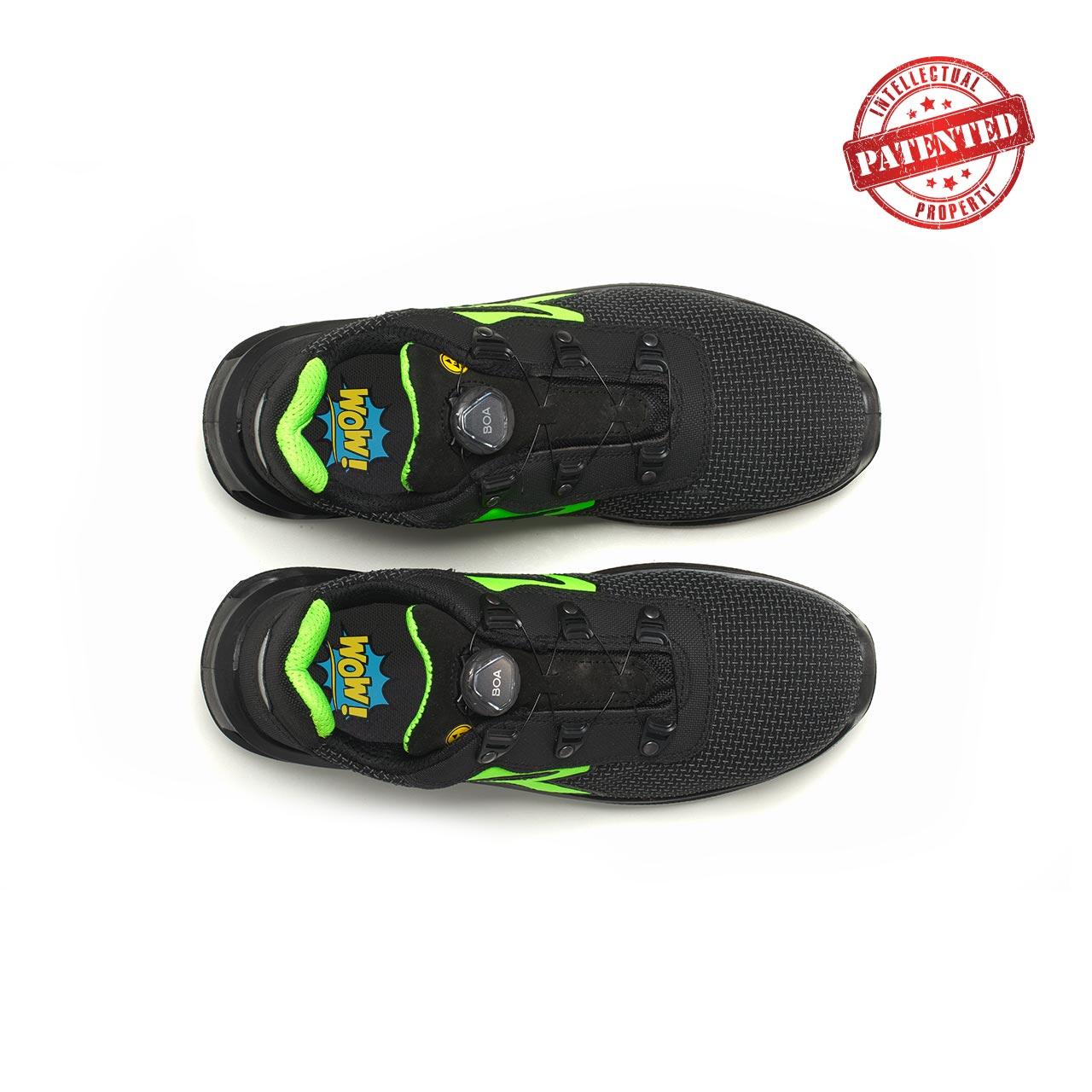 paio di scarpe antinfortunistiche upower modello monster linea redlion vista top