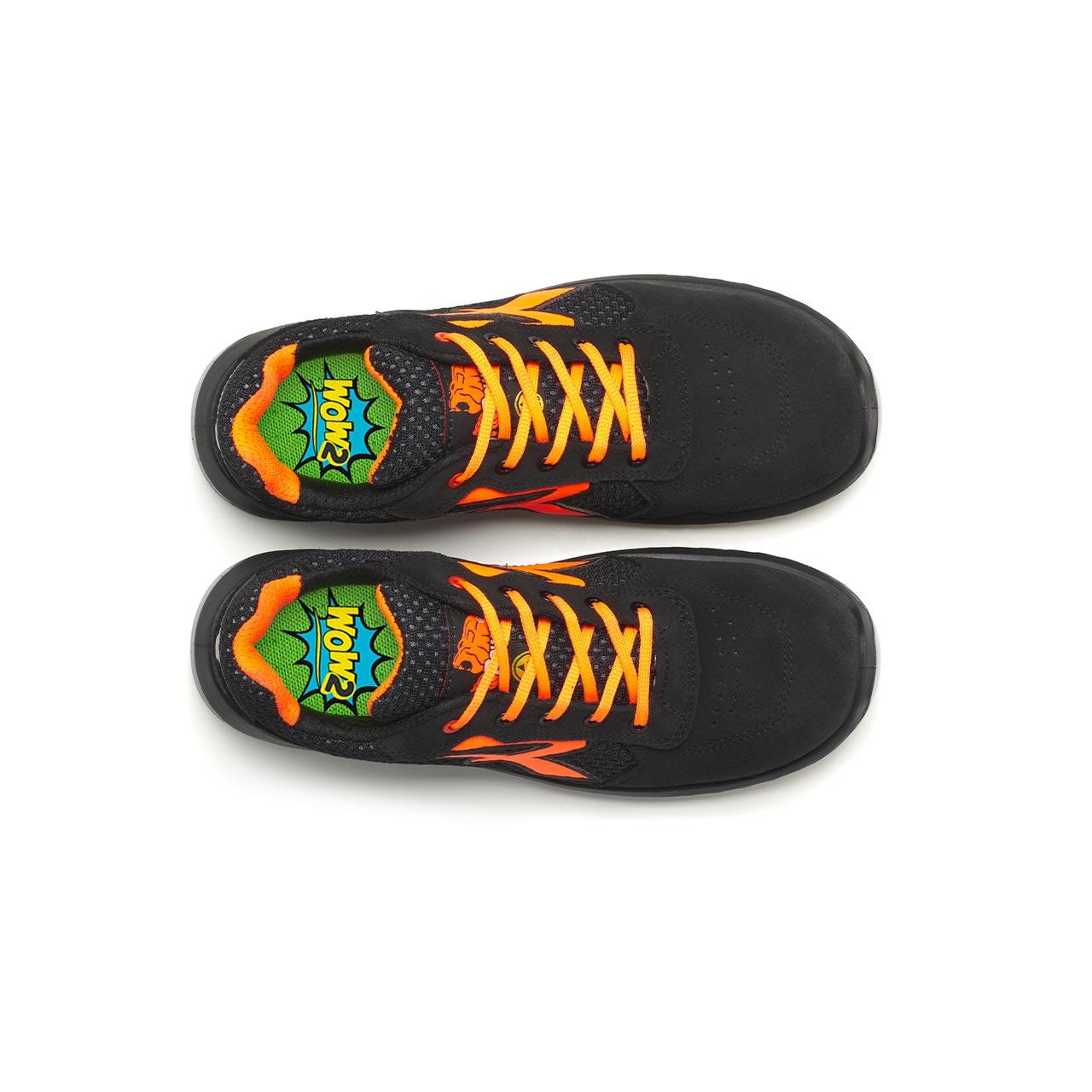 paio di scarpe antinfortunistiche upower modello nairobi linea redindustry vista top