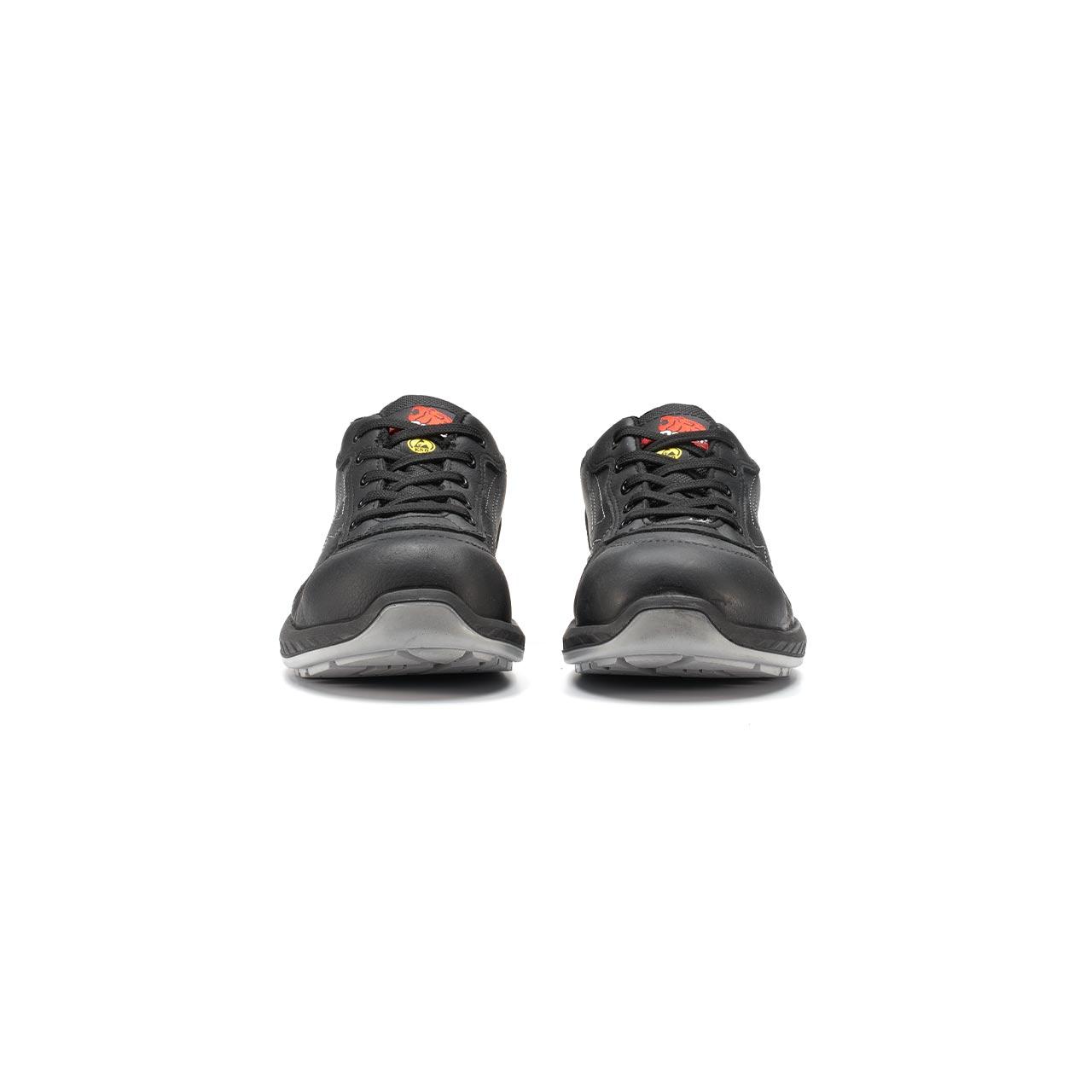 paio di scarpe antinfortunistiche upower modello nero linea redindustry vista frontale