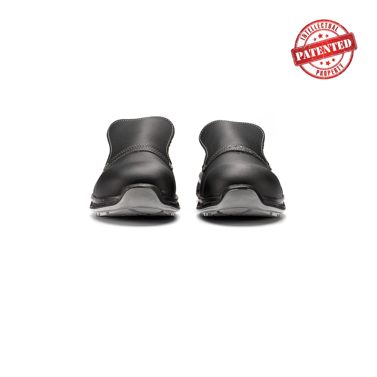 paio di scarpe antinfortunistiche upower modello noir linea redlion vista frontale