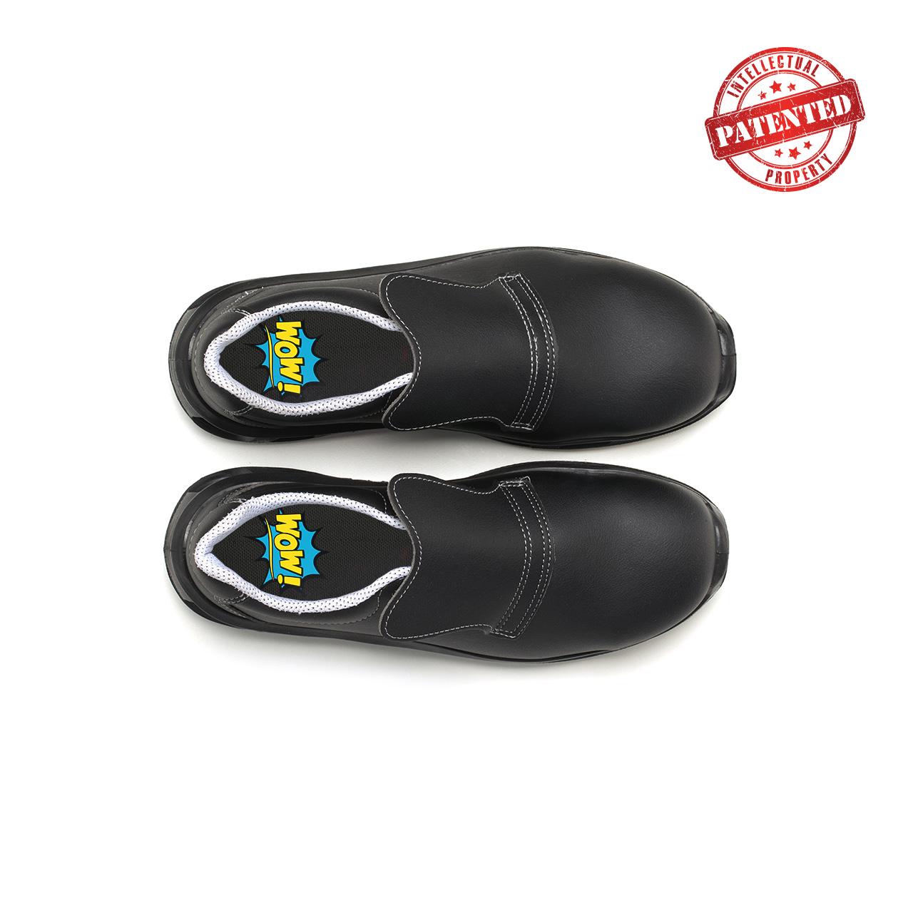 paio di scarpe antinfortunistiche upower modello noir linea redlion vista top