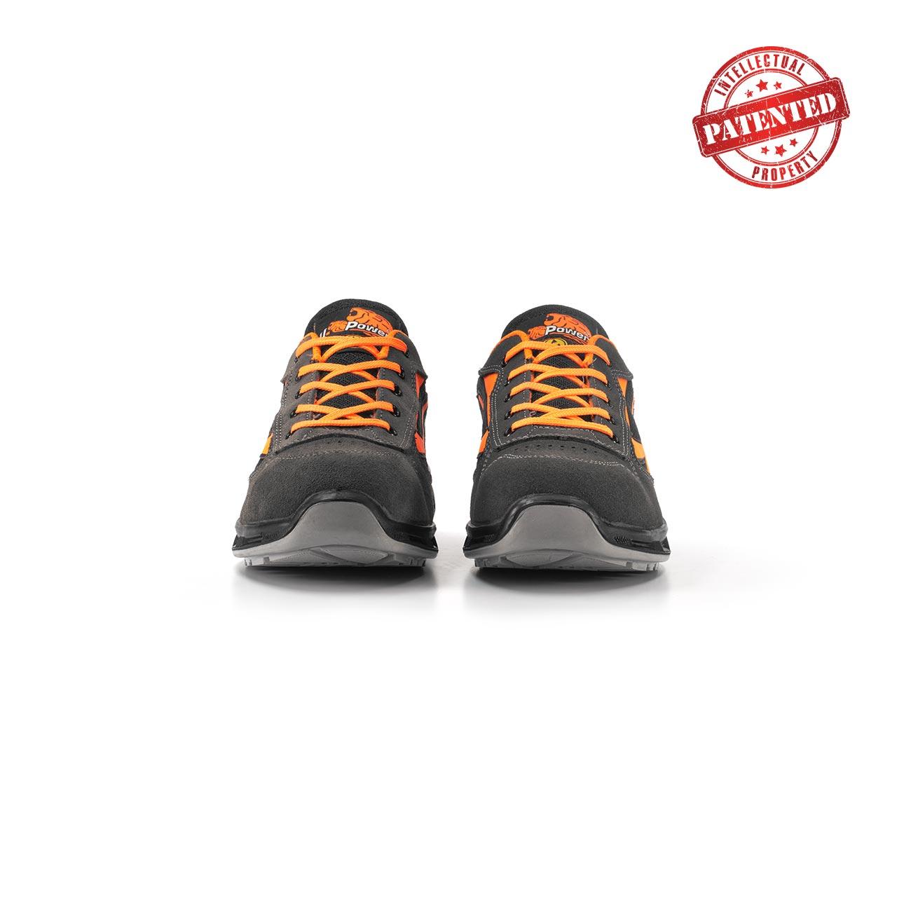 paio di scarpe antinfortunistiche upower modello orange linea redlion vista frontale