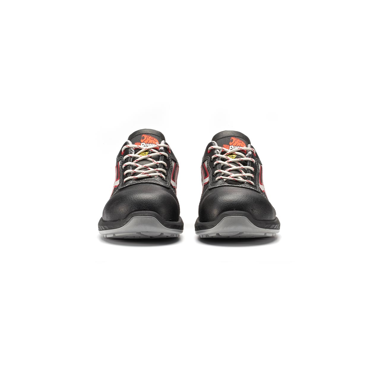 paio di scarpe antinfortunistiche upower modello parigi linea redindustry vista frontale