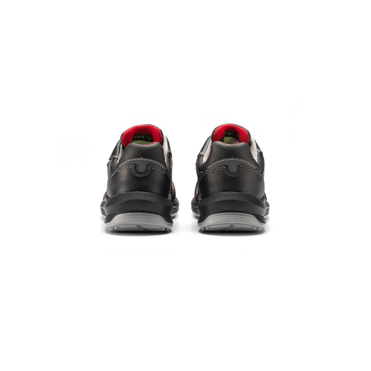 paio di scarpe antinfortunistiche upower modello parigi linea redindustry vista retro