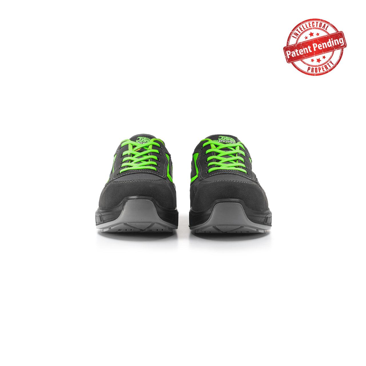 paio di scarpe antinfortunistiche upower modello point carpet linea redcarpet vista frontale