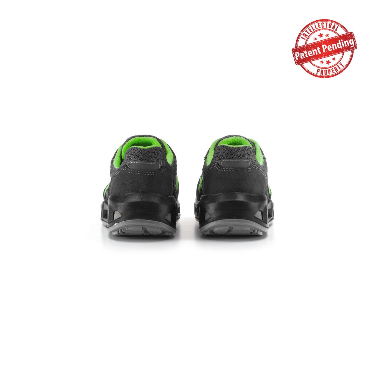 paio di scarpe antinfortunistiche upower modello point carpet linea redcarpet vista retro