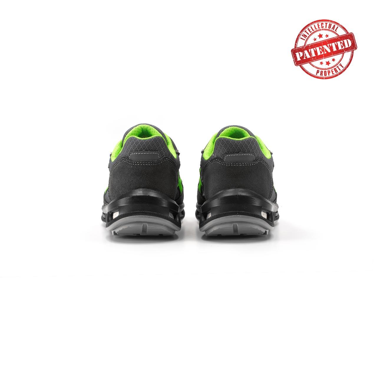 paio di scarpe antinfortunistiche upower modello point linea redlion vista retro