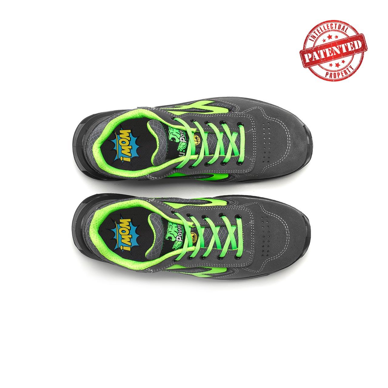 paio di scarpe antinfortunistiche upower modello point linea redlion vista top