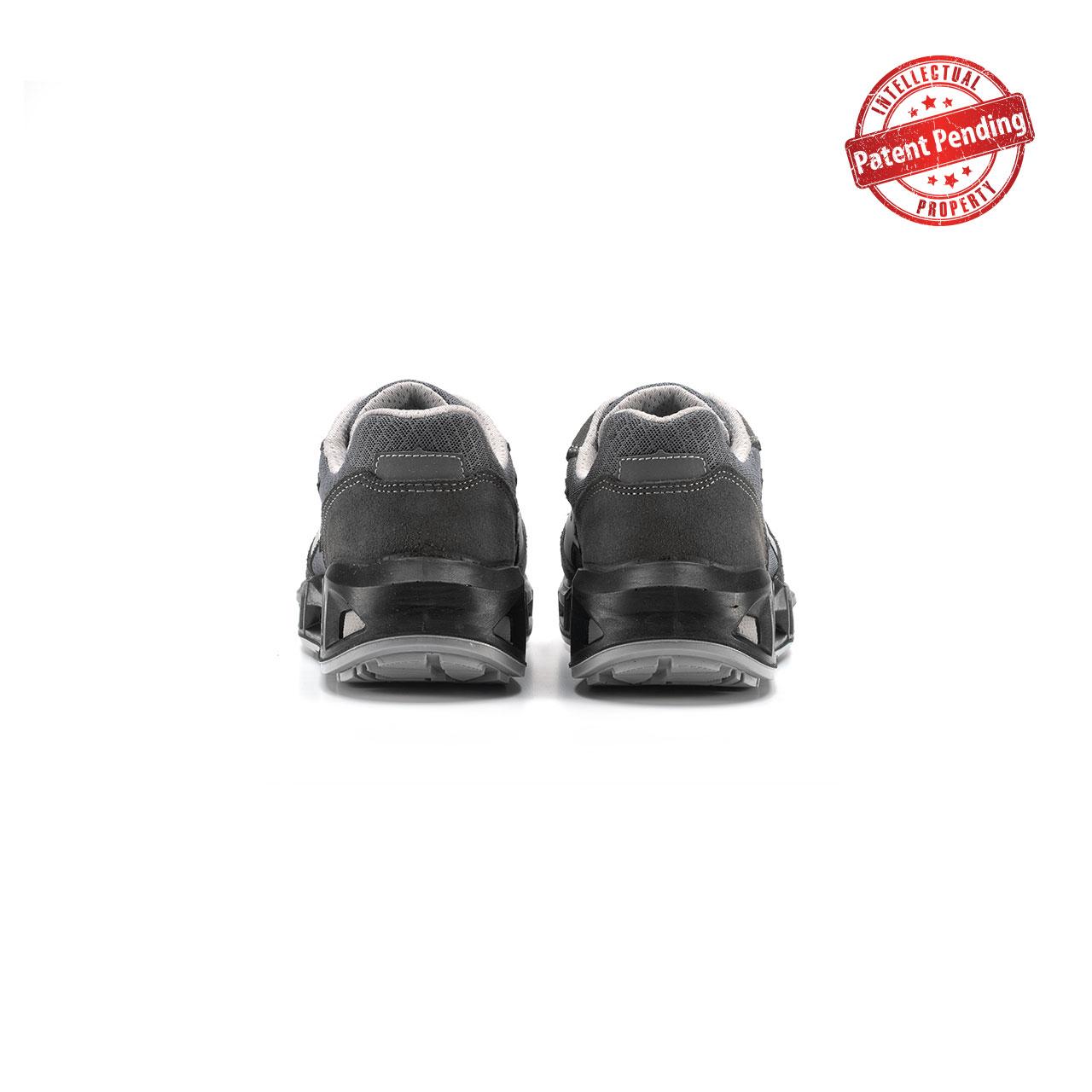 paio di scarpe antinfortunistiche upower modello push carpet linea redcarpet vista retro