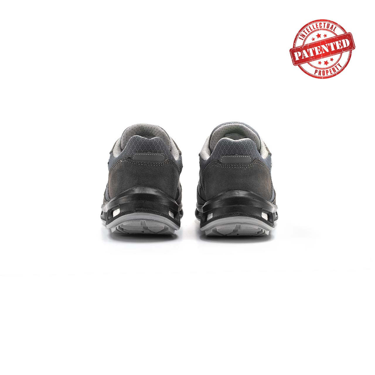 paio di scarpe antinfortunistiche upower modello push linea redlion vista retro