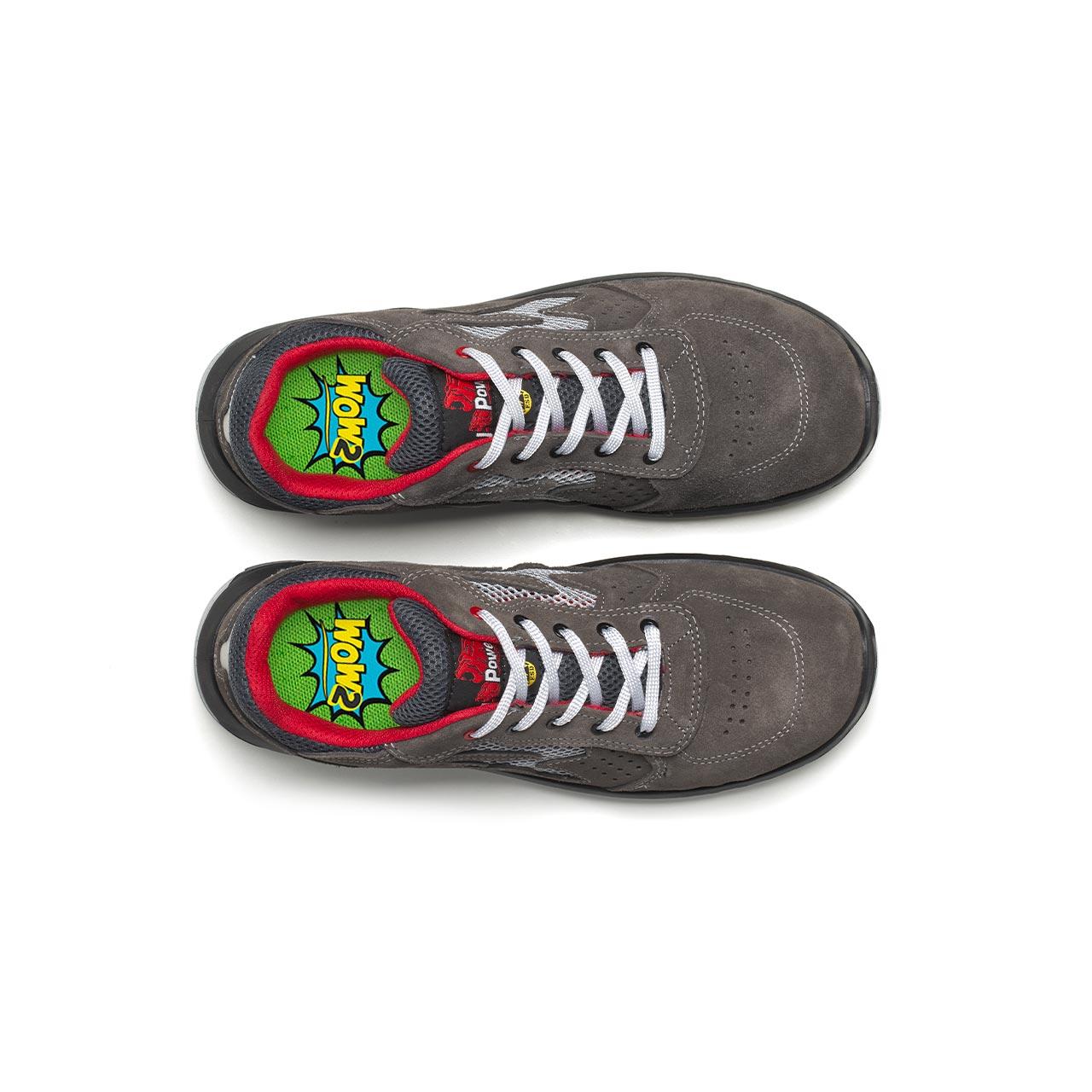 paio di scarpe antinfortunistiche upower modello radial linea redindustry vista top