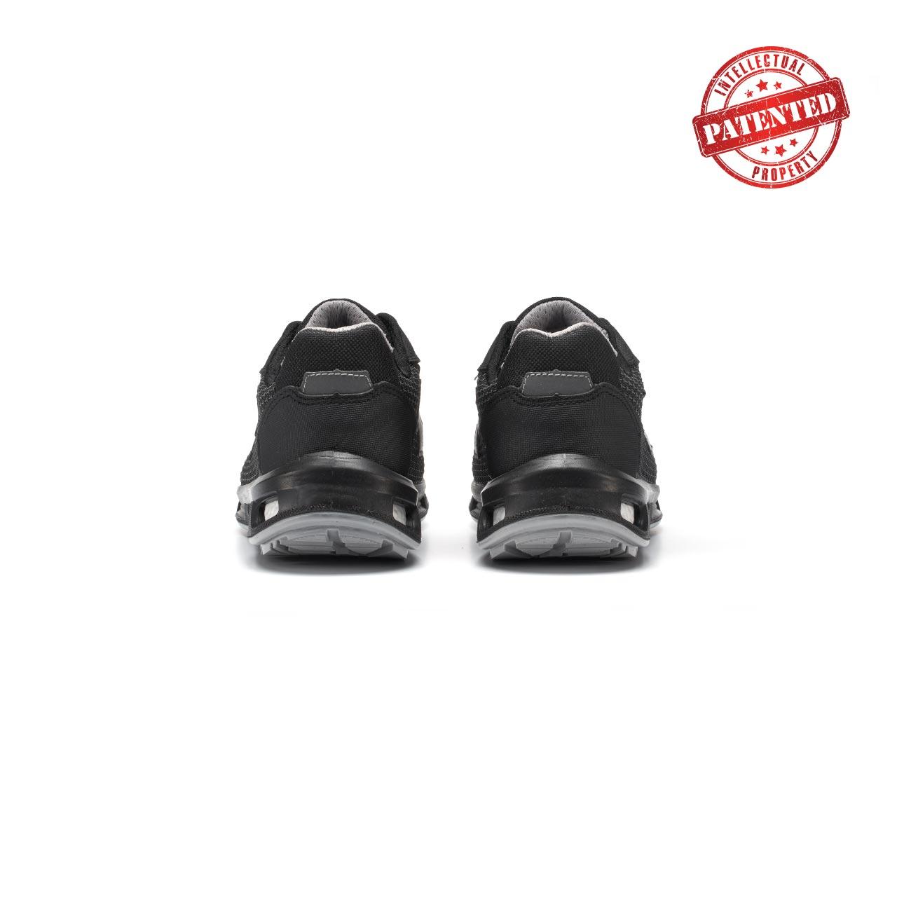 paio di scarpe antinfortunistiche upower modello raptor linea redlion vista retro