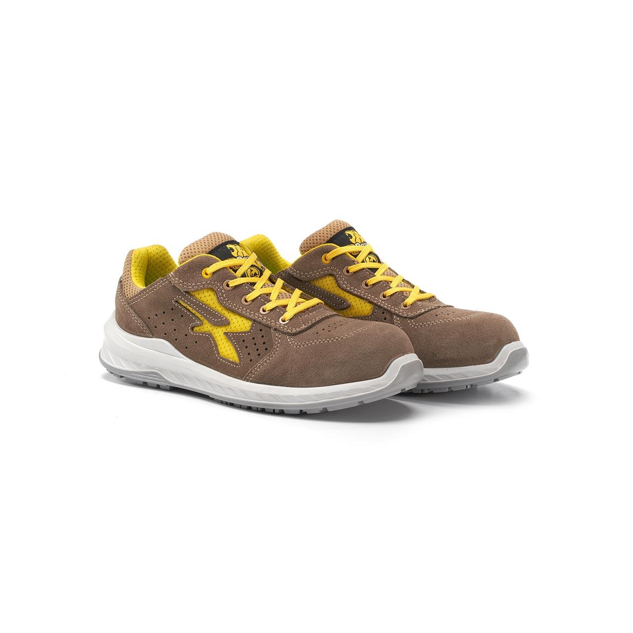 paio di scarpe antinfortunistiche upower modello reflex linea redindustry vista prospettica