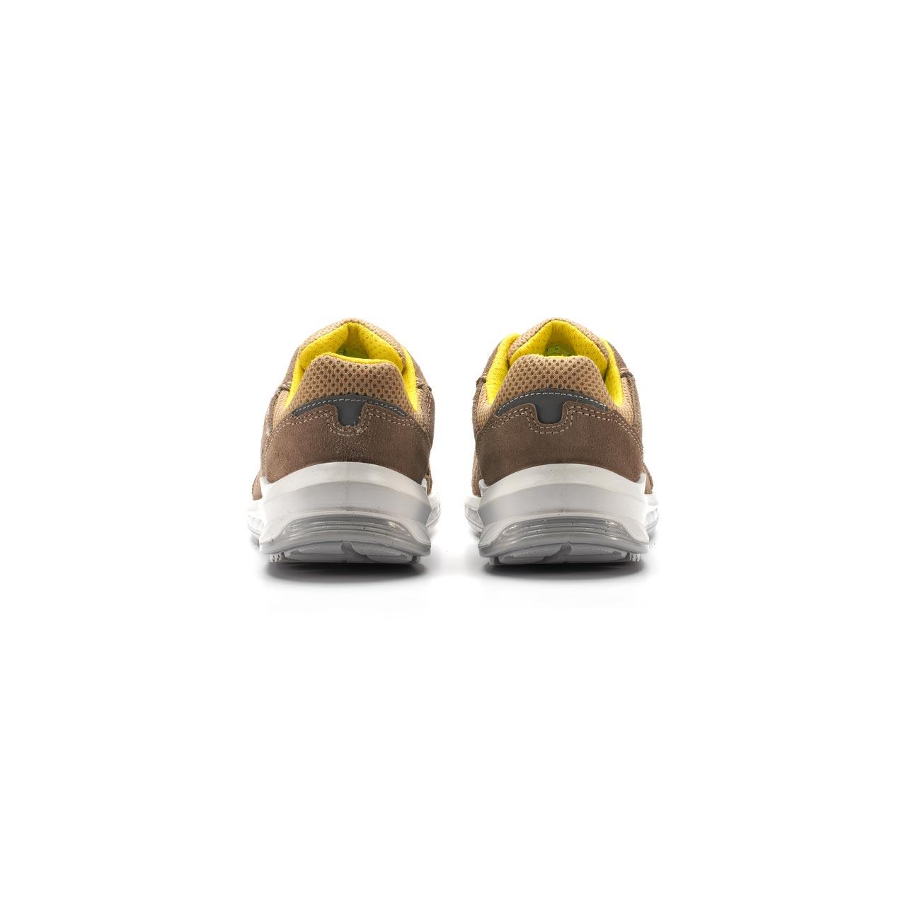 paio di scarpe antinfortunistiche upower modello reflex linea redindustry vista retro