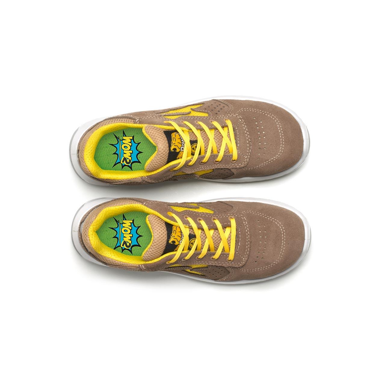 paio di scarpe antinfortunistiche upower modello reflex linea redindustry vista top