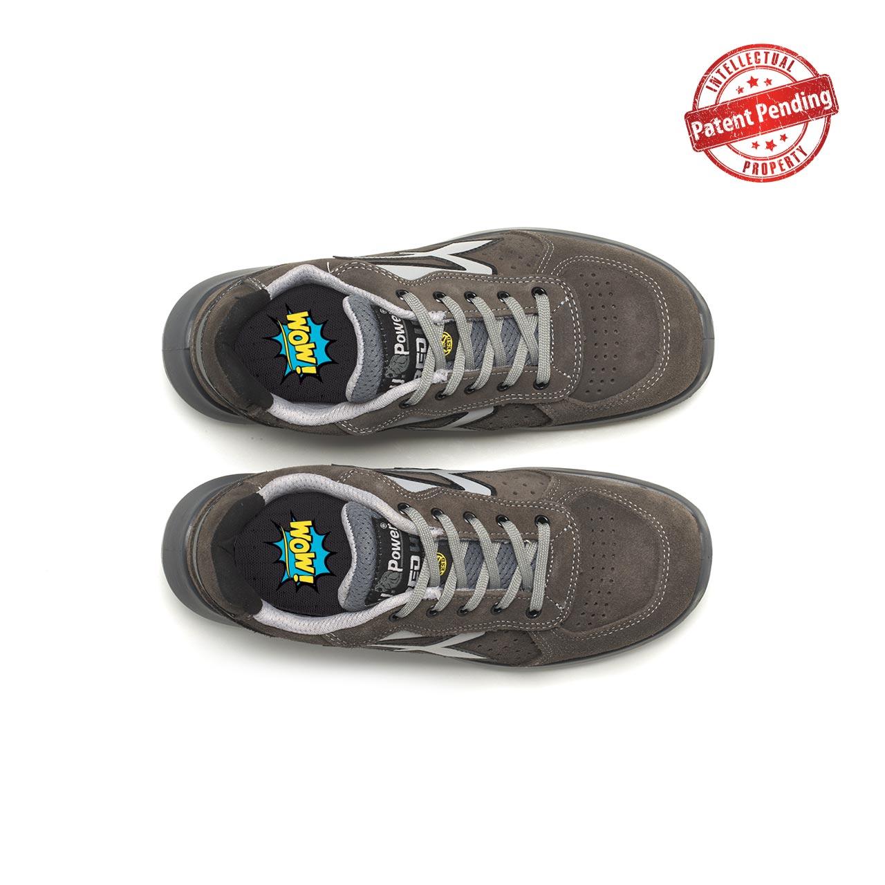paio di scarpe antinfortunistiche upower modello rigel linea redup vista top