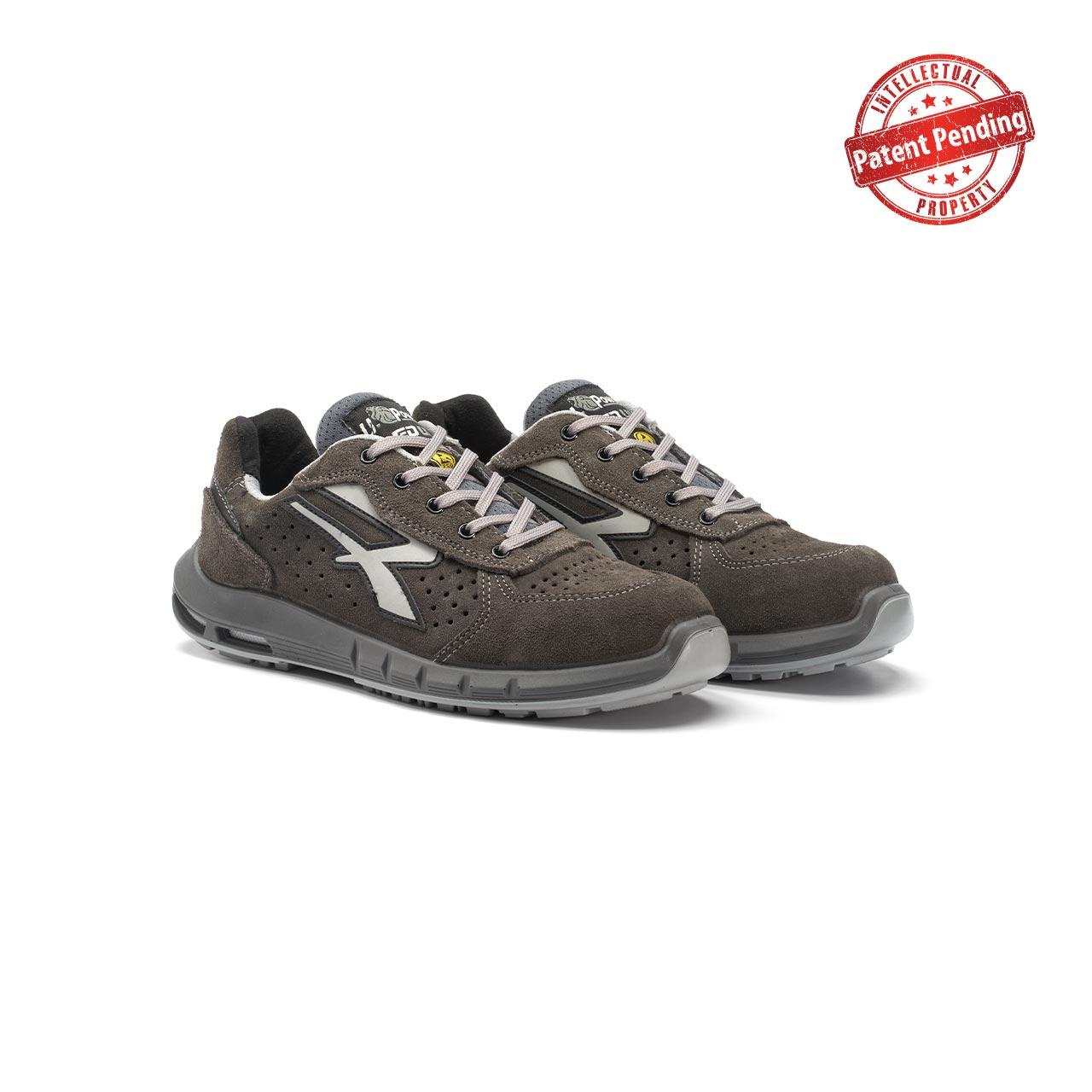 paio di scarpe antinfortunistiche upower modello rigel plus linea redup plus vista prospettica