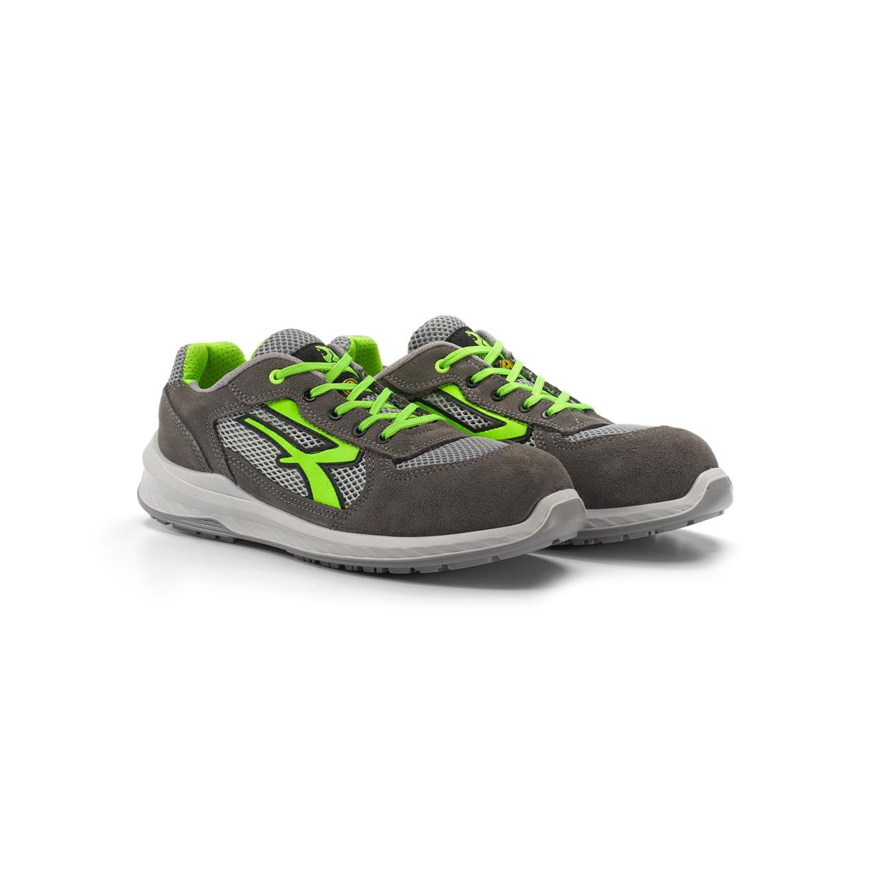 paio di scarpe antinfortunistiche upower modello rio linea redindustry vista prospettica