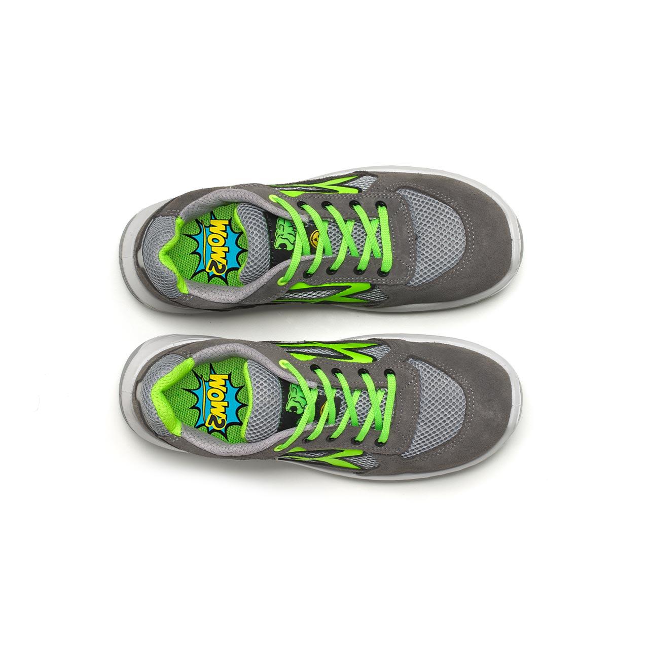 paio di scarpe antinfortunistiche upower modello rio linea redindustry vista top