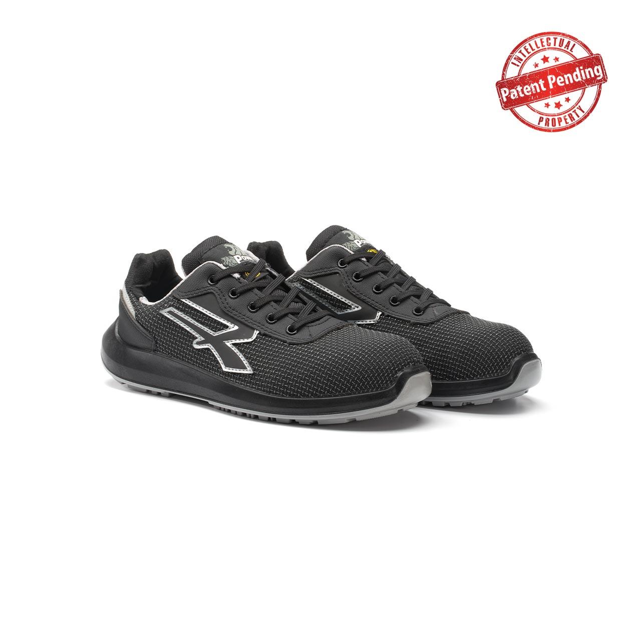 paio di scarpe antinfortunistiche upower modello scudo linea redup vista prospettica