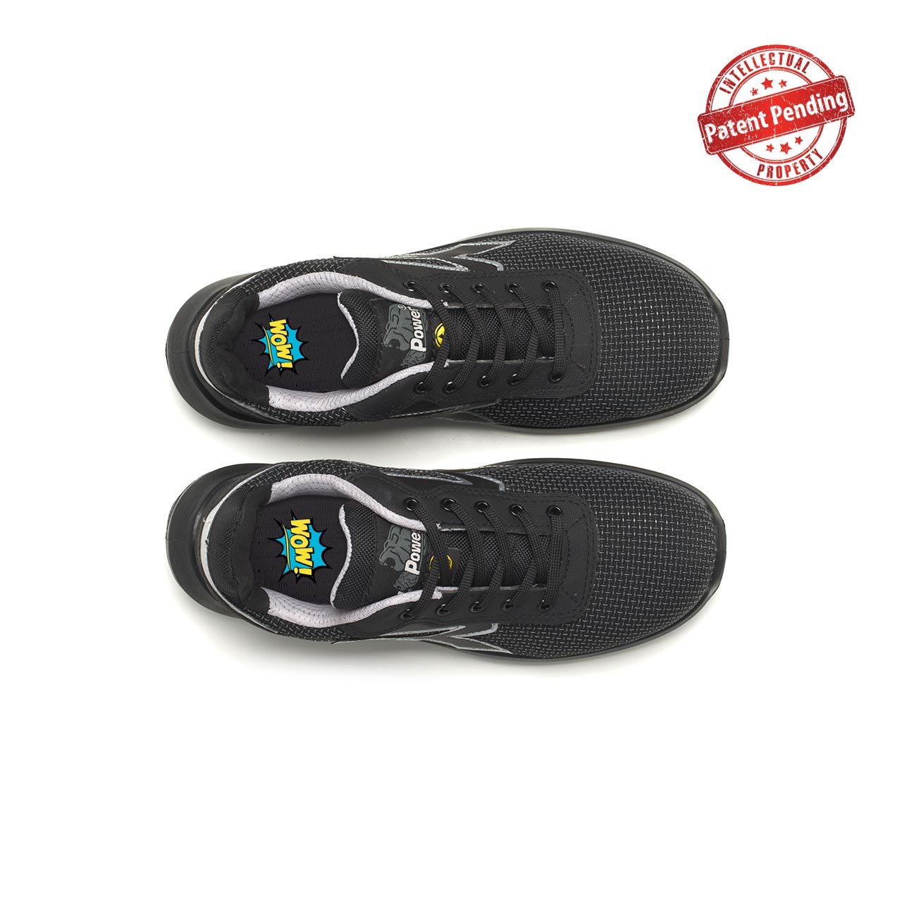paio di scarpe antinfortunistiche upower modello scudo linea redup vista top
