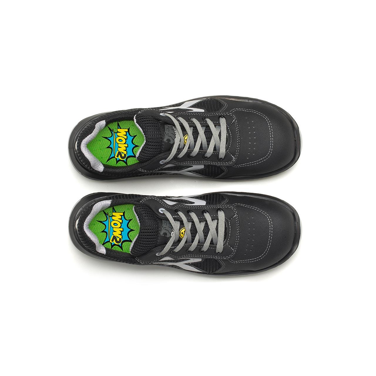 paio di scarpe antinfortunistiche upower modello shanghai linea redindustry vista top