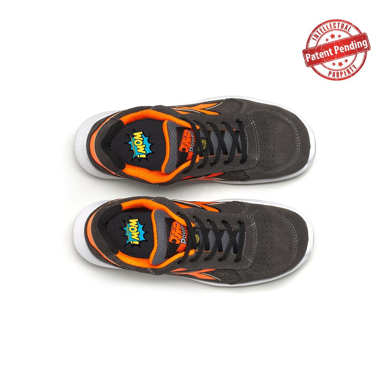 paio di scarpe antinfortunistiche upower modello sirio linea redup vista top