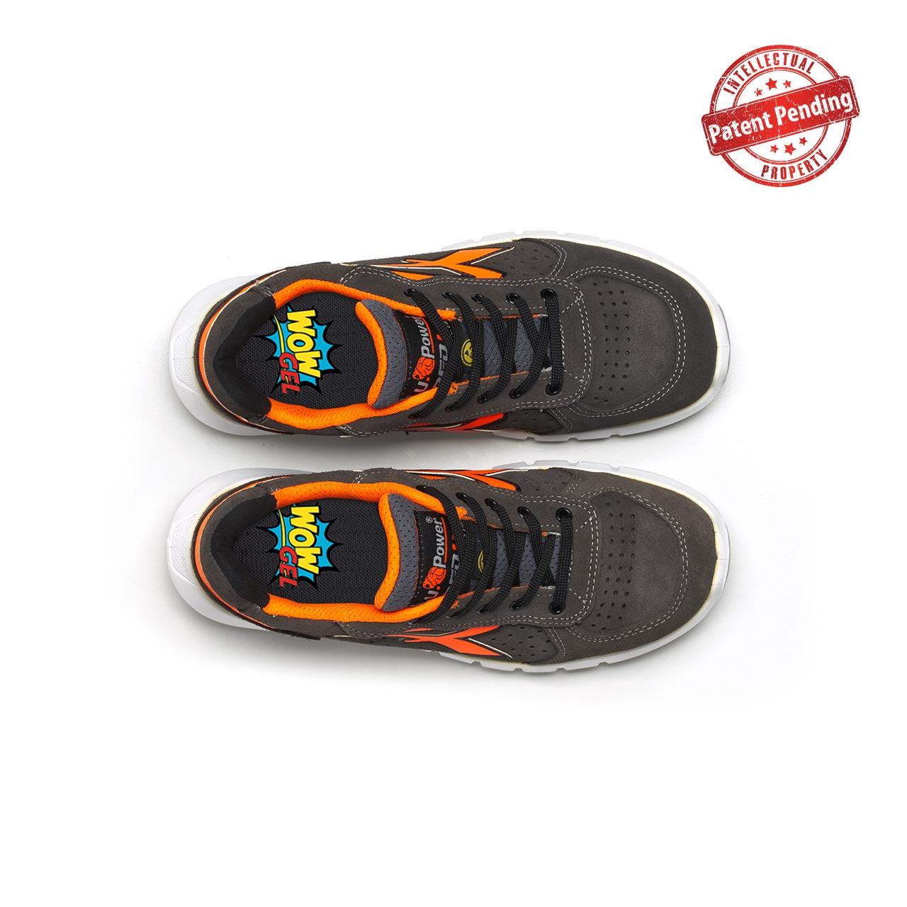 paio di scarpe antinfortunistiche upower modello sirio plus linea redup plus vista top