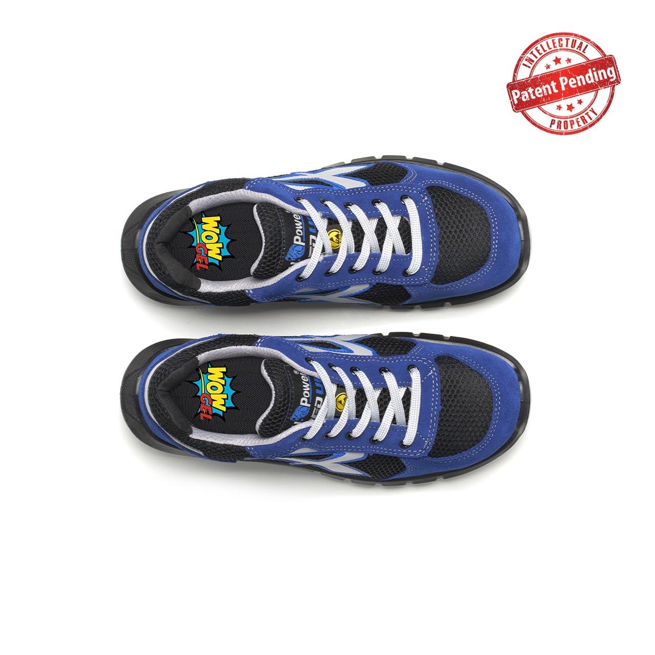 paio di scarpe antinfortunistiche upower modello sky plus linea redup plus vista top
