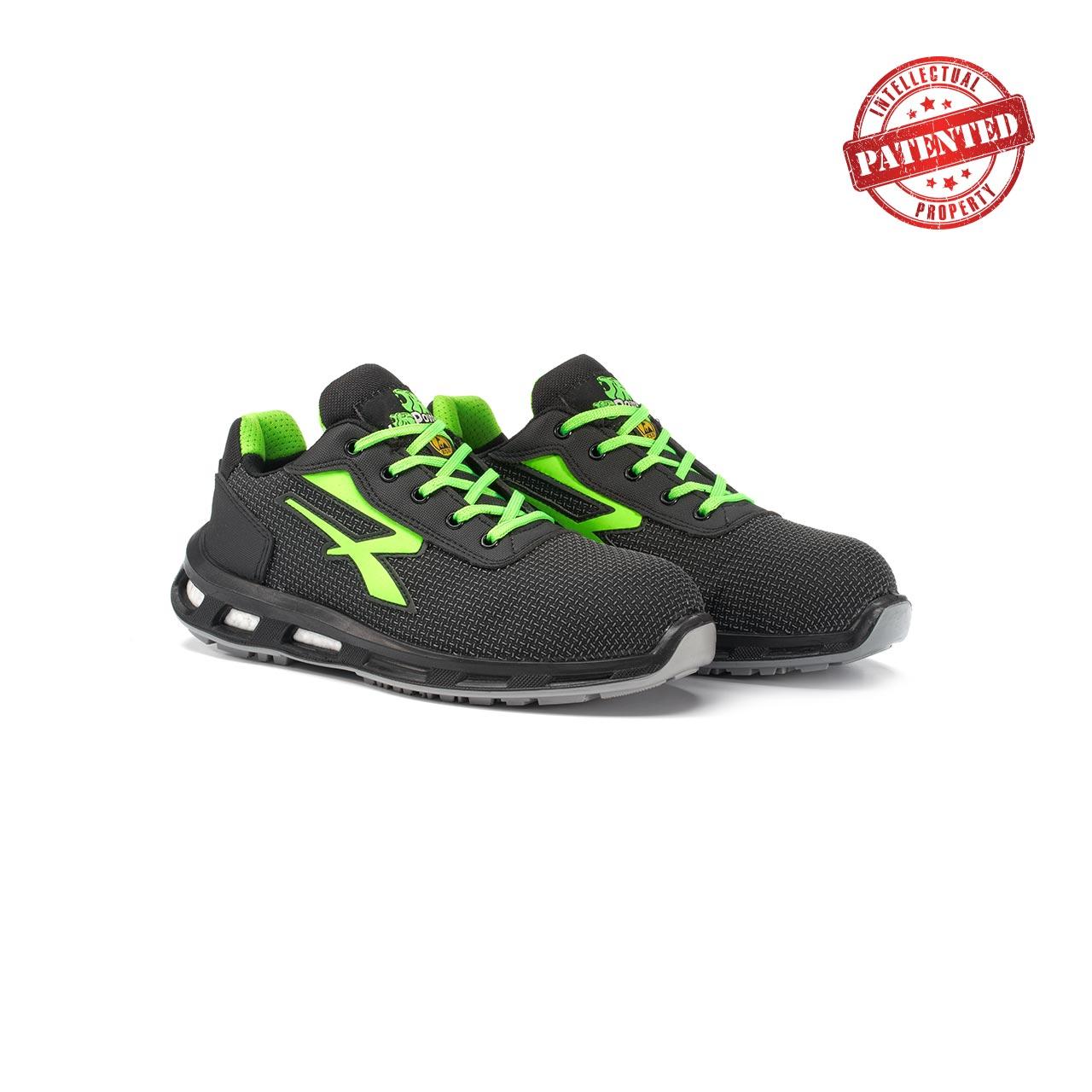 paio di scarpe antinfortunistiche upower modello strong linea redlion vista prospettica