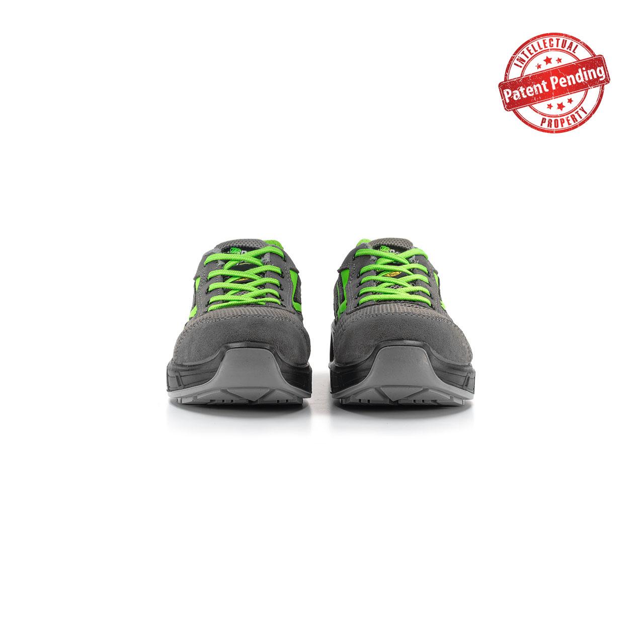 paio di scarpe antinfortunistiche upower modello summer carpet linea redcarpet vista frontale