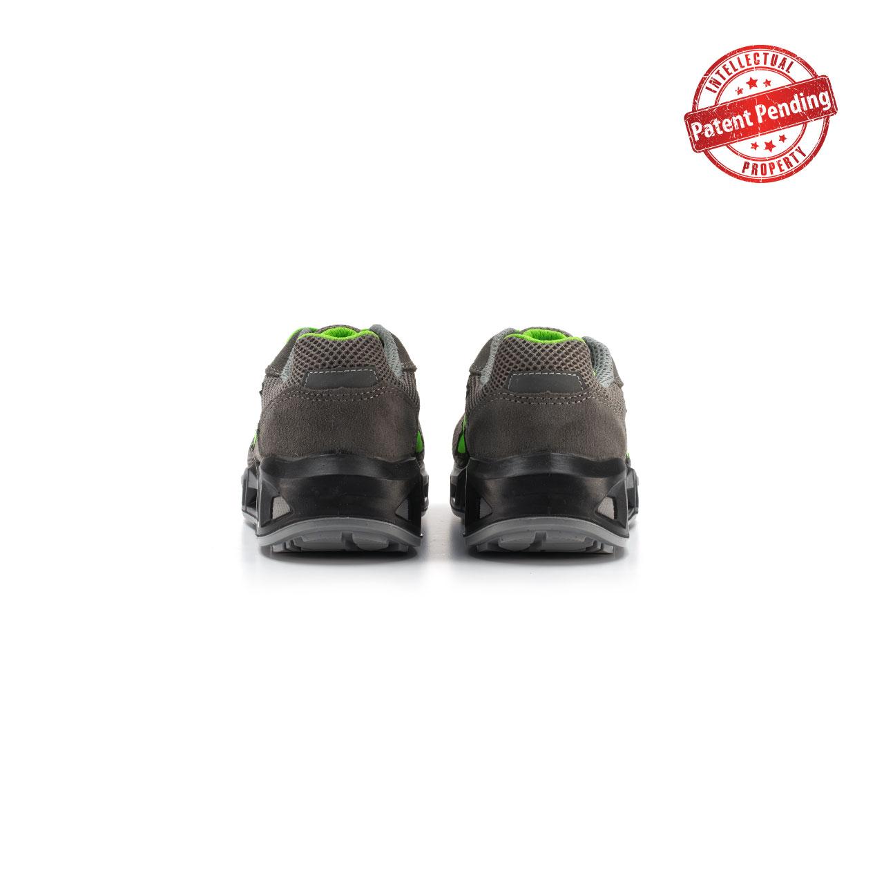 paio di scarpe antinfortunistiche upower modello summer carpet linea redcarpet vista retro