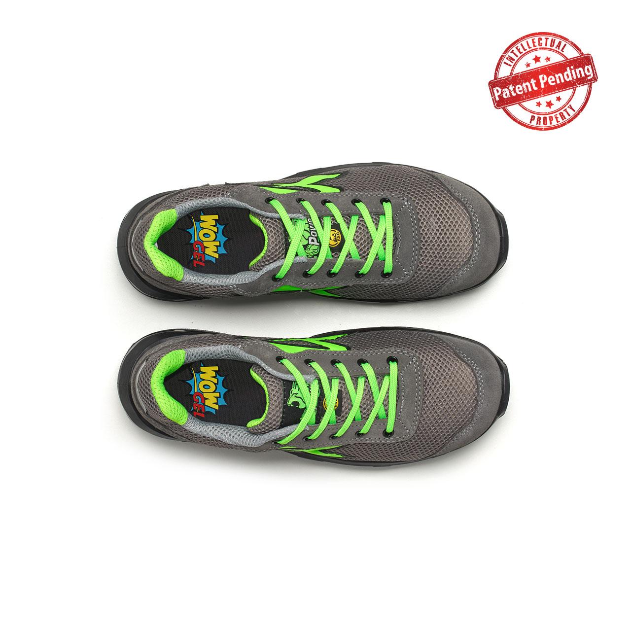 paio di scarpe antinfortunistiche upower modello summer carpet linea redcarpet vista top