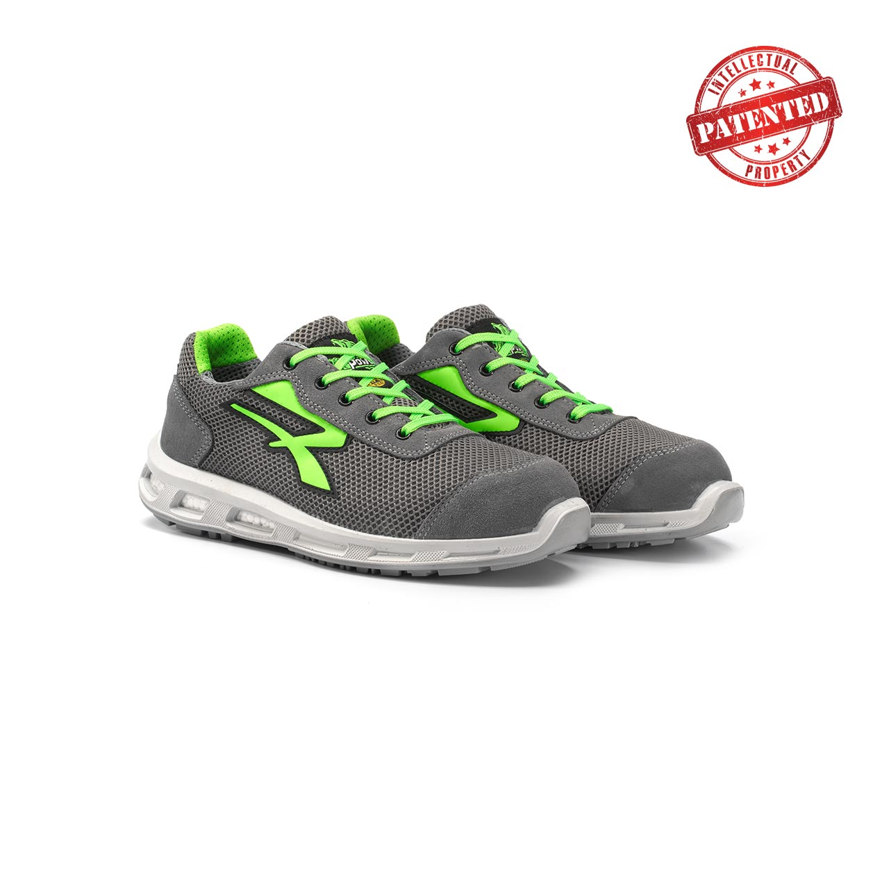 paio di scarpe antinfortunistiche upower modello summer linea redlion vista prospettica